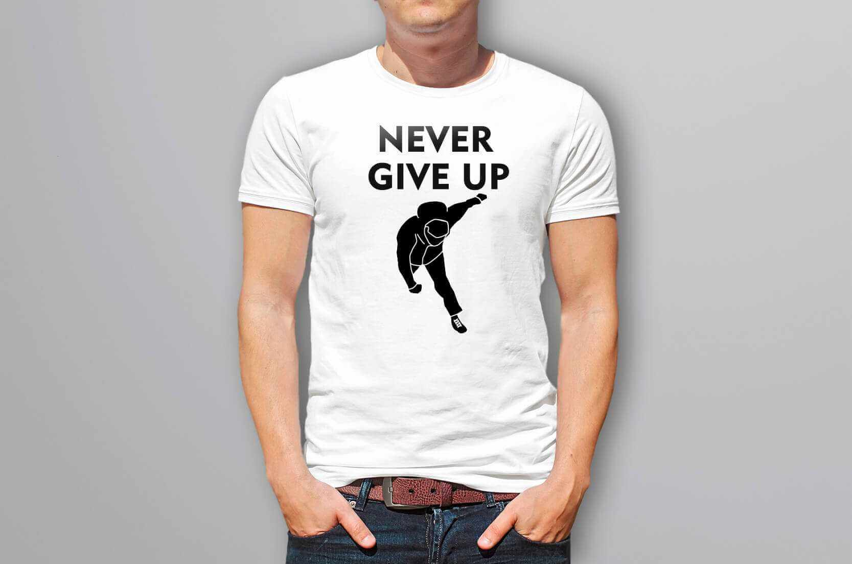 Never give up 永不放棄的圖片